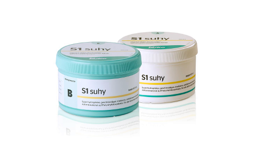 S1 Putty Suhy, soft A-silicone with pronounced hydrophilic properties, base + catalyst, 2 * 300ml