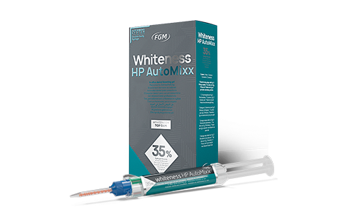 Whiteness HP AutoMixx, material for photochemical teeth whitening with calcium, 35% hydrogen peroxide