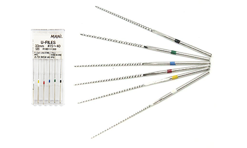 U-Files # 10, 33 mm, the tool for ultrasonic processing and expansion of root canals, 6 pieces