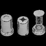 3516 Dispenser for cotton wool, metal
