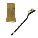 Brushes for cleaning diamond tools