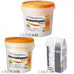 Kromotypo4, heavy-duty gypsum, class 4, with color indication of phases