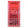Largo №1-6, 32mm, root canal dilators for corner tip, 6pcs