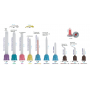 C210 Cannula nozzles for mixing, pink, 1: 1/2: 1, 83 mm, 10 pieces