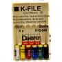 K-Files # 15-40, 25mm, manual drills, 6pcs
