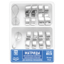 1.560 Matrix contour metal with the fixing device for molars and premolars, set of 2 types, 35 microns, 10 pieces